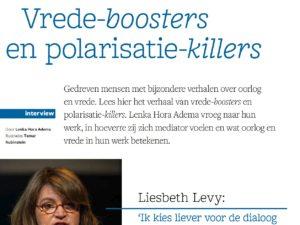 Vrede-boosters en polarisatie-killers